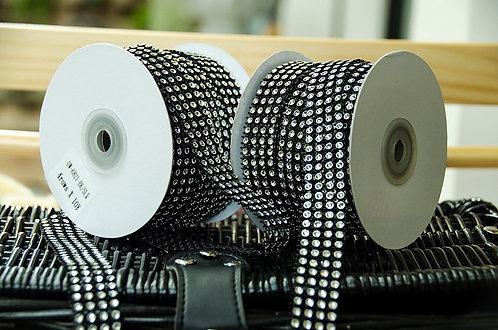 Diamond Mesh Black Ribbon - ริบบิ้นตาข่ายเพชรสีดำ