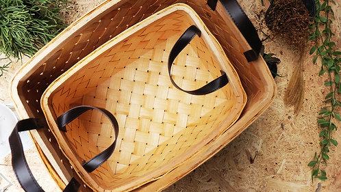 Small Rectangular Natural Ash Basket