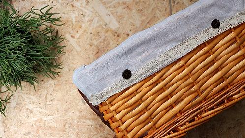 Medium Rectangular Natural Wicker Deep Storage Basket
