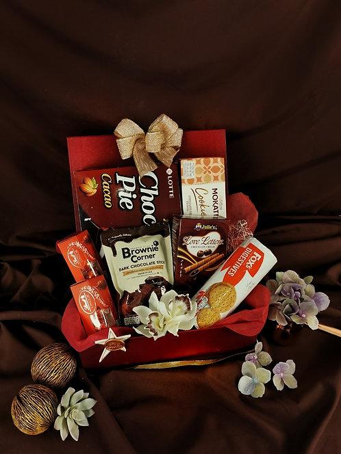 กระเช้าพรีเมียม- Choc&Cookies Set H