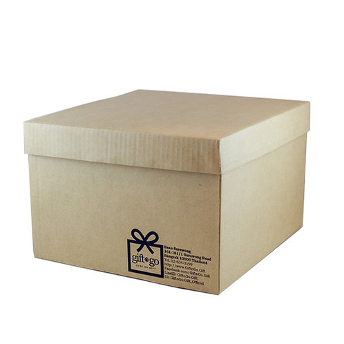 Medium Corrugate Natural Gift Box