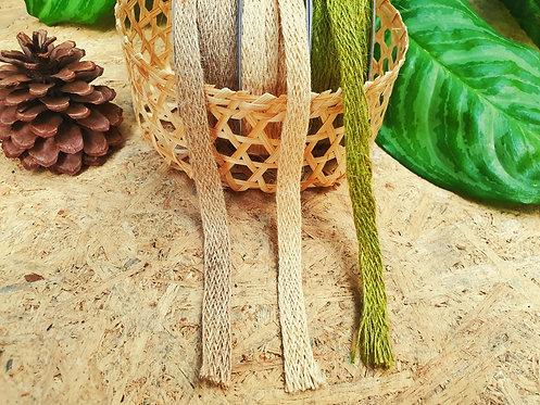 Natural woven burlap hessian jute trim - ริบบิ้นเส้นใยปอ