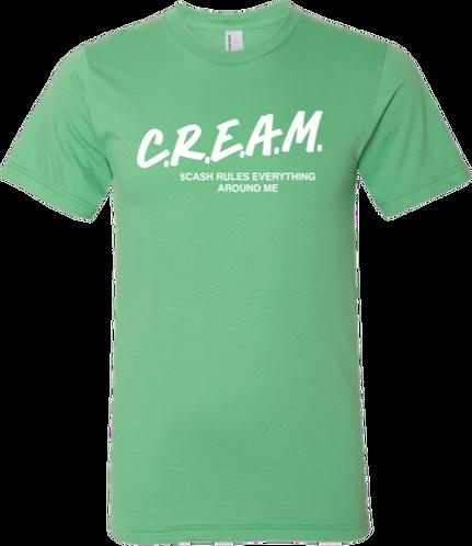 Green T-Shirt with White C.R.E.A.M Design