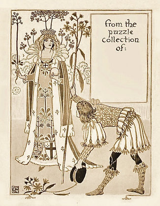 Puzzle Ownership Plate; Walter Crane