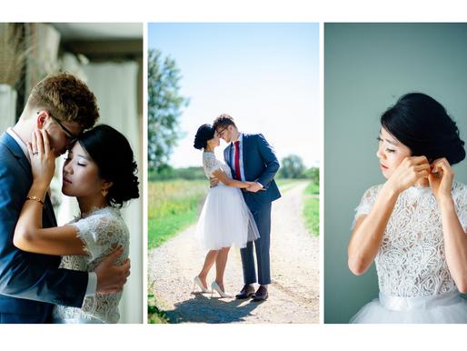 Kevin + Su Yi   Outdoor Spring Wedding   Waterloo, Illinois