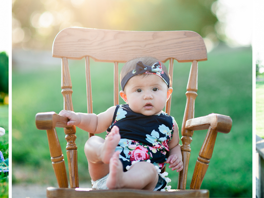 Baby Naomi | 6 Month Milestone Portraits at Longacre in Fairview Heights, IL | St. Louis Photography
