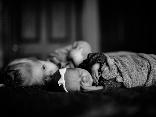 The Quartons | a Cozy Lifestyle Newborn Session | Highland, IL