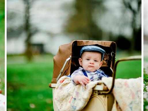 Baby Sawyer | 6 Month Milestone Portraits | Veteran's Park, Mt. Vernon, IL | St. Louis Photography
