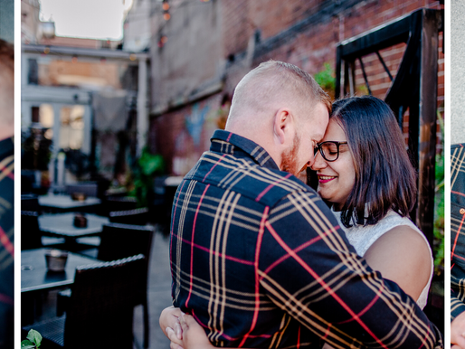 Maria + Danny | Downtown Engagement Session in Belleville, IL | St. Louis Photography