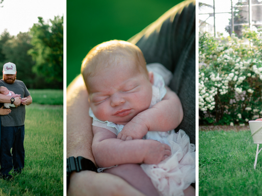 the Frosts | an outdoor Newborn Session at the Jewel Box in Forest Park | St. Louis, Missouri