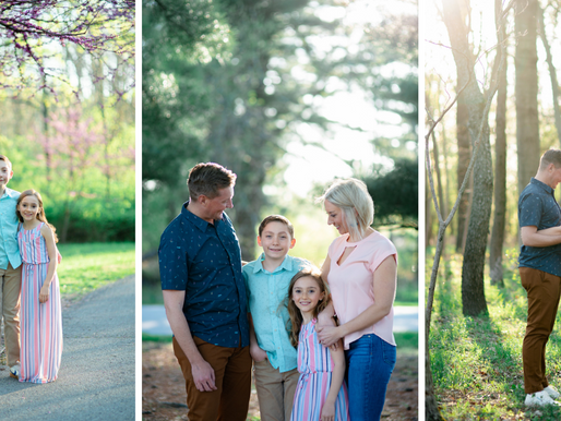 the Millers | a spring Family Session at SIUE Gardens | Edwardsville, Illinois