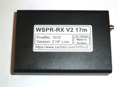 Documentation page for the WSPR-RX