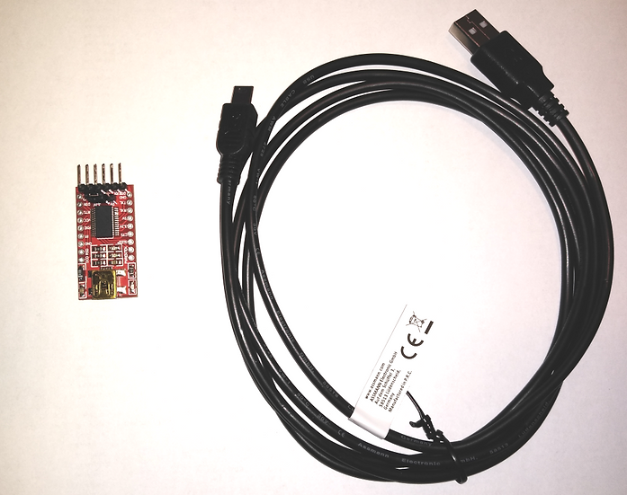 USB to Serial adapter and cable.