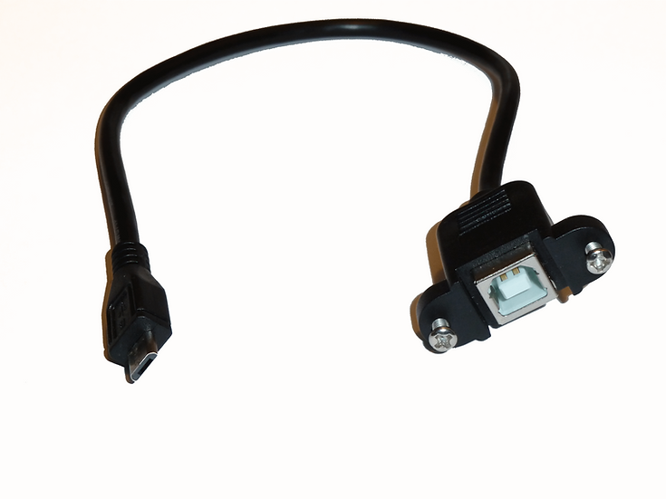 USB B Bulkhead to micro USB adapter