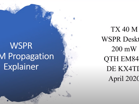 Nice Video and paper on 40m band propagation using WSPR.