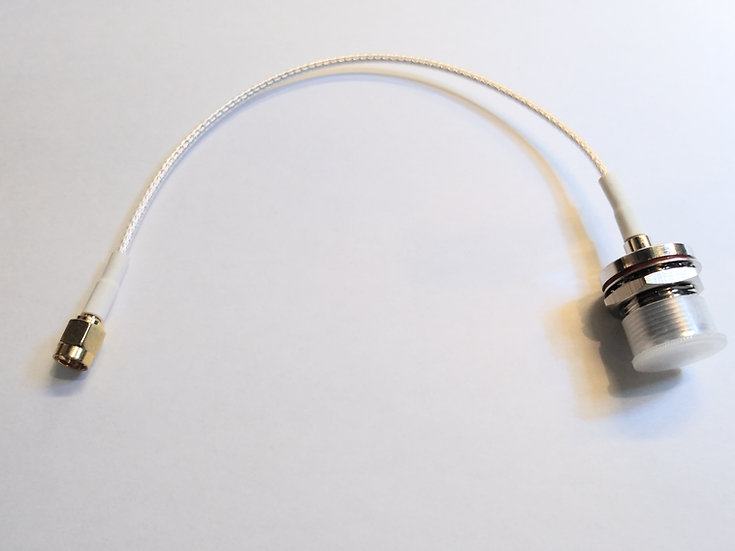 SMA to SO239 pigtail cable, bulkhead