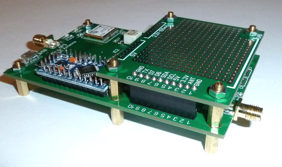 Mezzanine experiment PCBs. Add-on for WSPR-TX_LP1