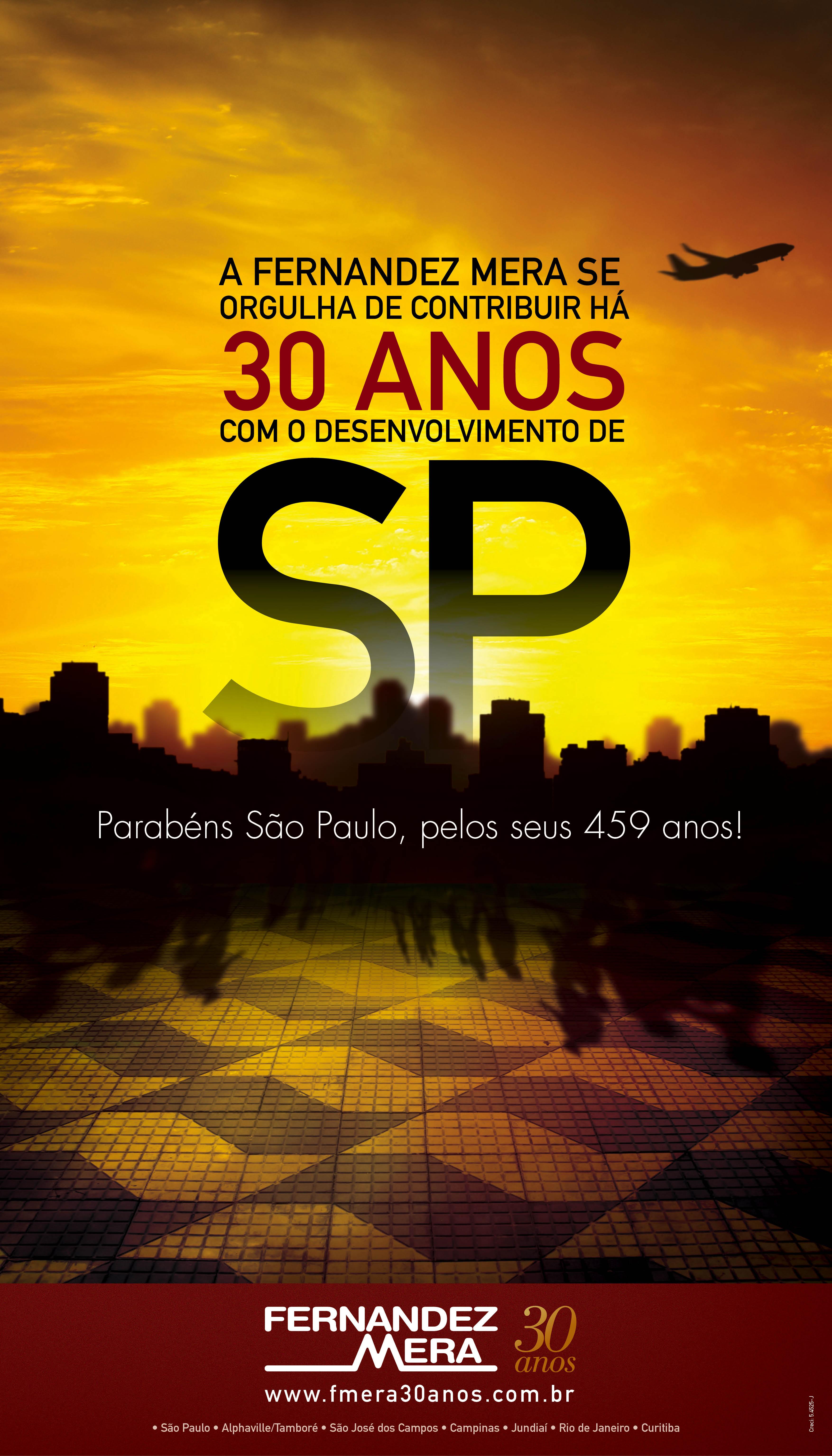 ANÚNCIO ANIVERSÁRIO DE SÃO PAULO