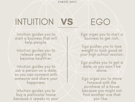 "Are You Making Decisions from Intuition or Ego? -- 8 Ways To Help You ""Tune-In"" To Your Intuition."