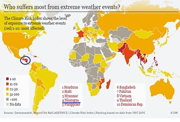 Nicaragua+4th+Most+Likely+to+Suffer+from