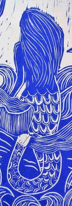Bic Beaumont Art_Moon Mermaid_Hand print