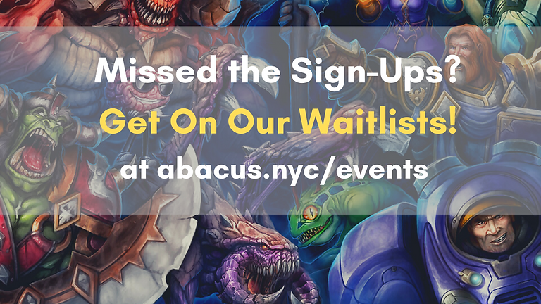 Blizzard Workshops Combined Waitlist!