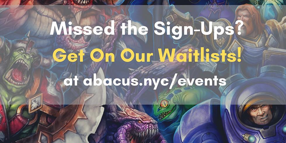 Blizzard Workshop Waitlist 9/18
