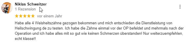 Niklas Schweitzer Zähne