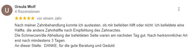 Ursula Wolf Zähne