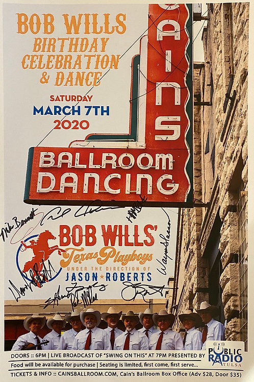 Signed Poster from 2020 Cain's Ballroom performance
