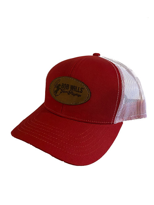 Cap (Red and White with Leather Patch)