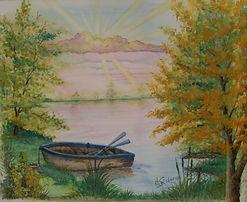 Days End_watercolo by J N Salsburey
