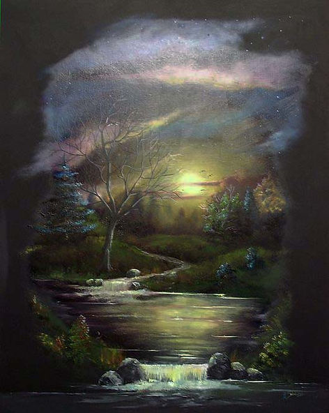 Evening Glisten oil on canvas