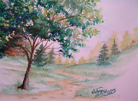 Step Into the Woods watercolor  by J N Salsburey