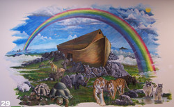 Noah mural on wall