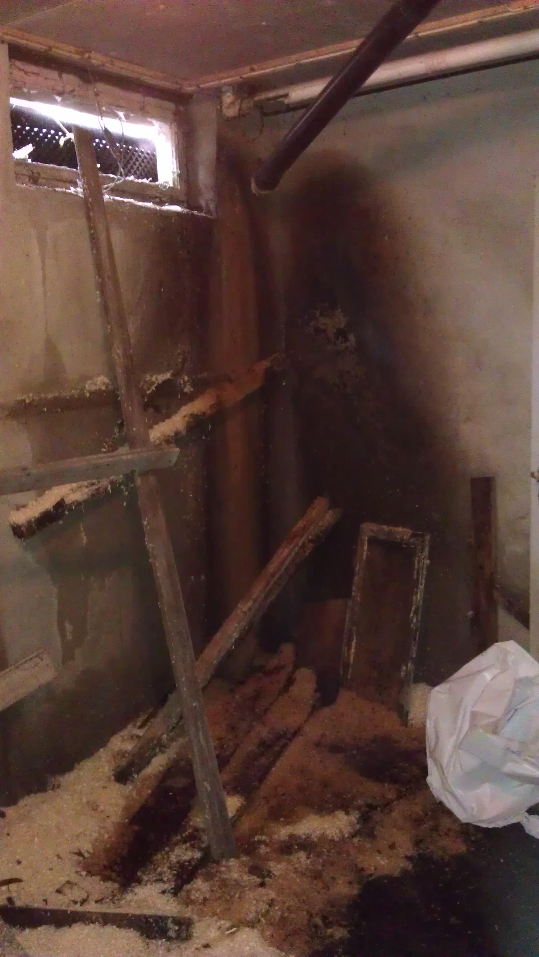 Total rehab av kloakkskadet kjeller