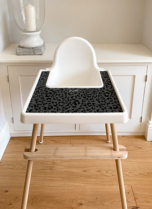 Printed placemat Ikea highchair graphite grey
