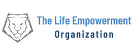 The Life Empowerment Organizatio logo with lion head