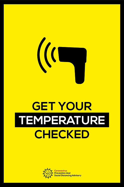 Get your temperature checked