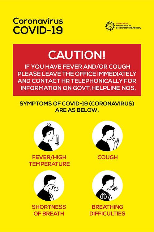 Caution Symptoms Vertical