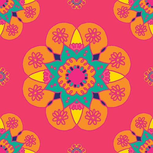 Diwali Highlights on Canvas Square Mandala (4X4 inch, Sets of 2,4,6)