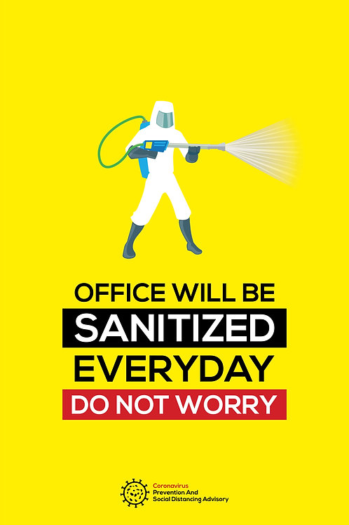 Office will be sanitised