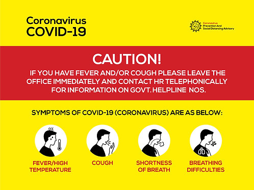 Caution Symptoms Horizontal