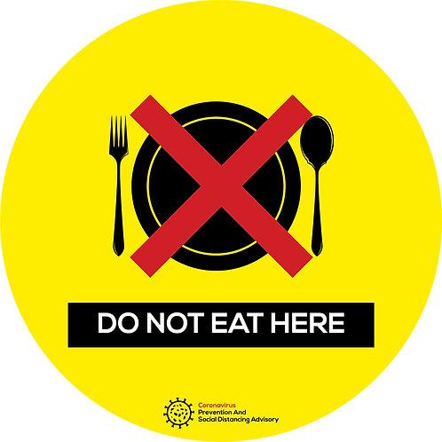 Do no eat here