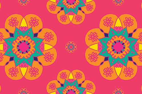 Floor Runner on Canvas Pink Mandala (4X24 inch)