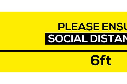 Please ensure social distancing