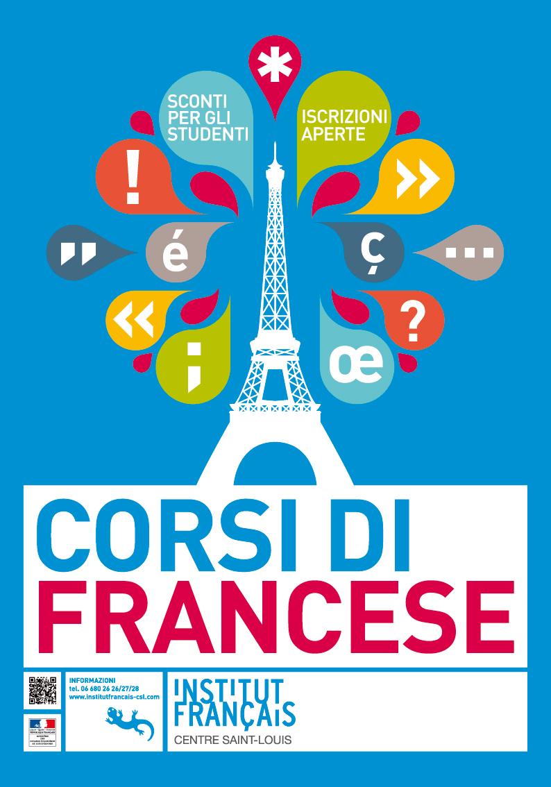 Poster Corsi di francese