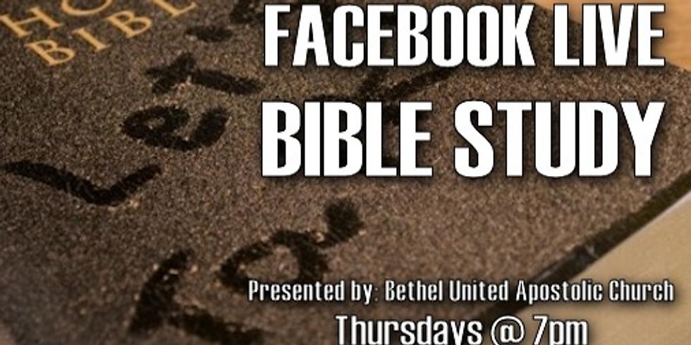 Facebook Live Bible Study