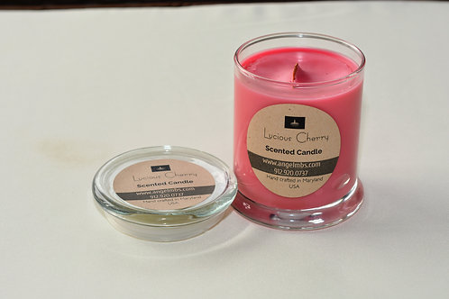 12 oz Lucious Black Cherry Scented Candle