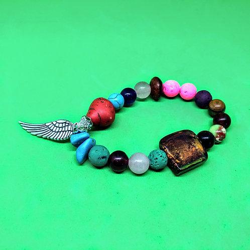 Healing Chakra Angel Wing Bracelet3